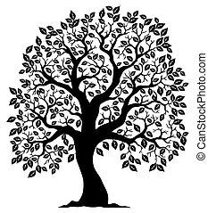 träd 3, silhuett, format