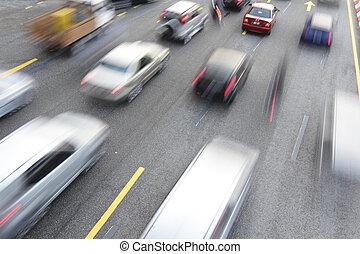 trafik, blodstockning