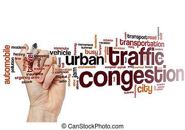trafik, ord, moln, blodstockning
