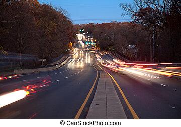 trafik, vätska