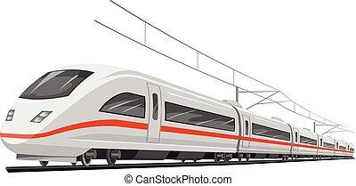 train., vektor, hastighet