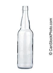 transparent, flaska, tom, öl
