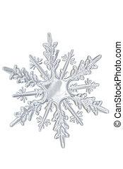 transparent, vinter, snowflake.