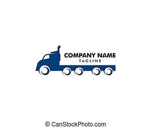 transport, vektor, lastbil, logo, design