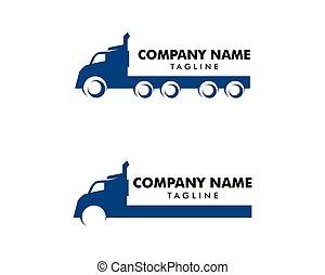 transport, vektor, lastbil, sätta, logo, design