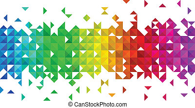triangel, mosaik, bakgrund
