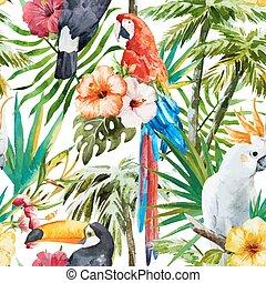 tropisk, fåglar