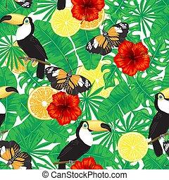 tropisk, mönster, seamless