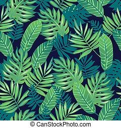 tropisk, pattern., seamless