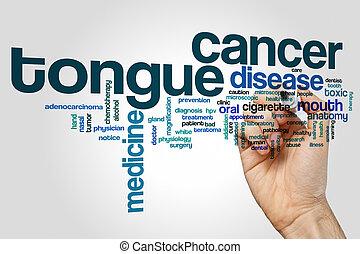 tunga, ord, cancer, moln