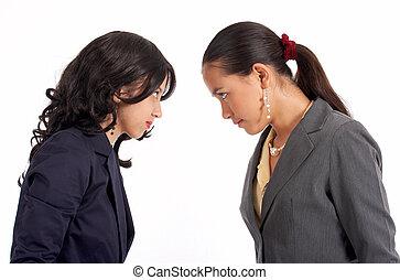 två, konflikt, sekreterare