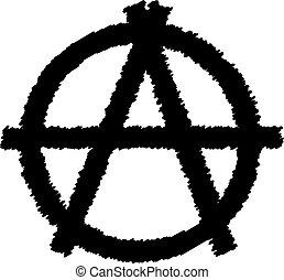 underteckna, vector., anarki