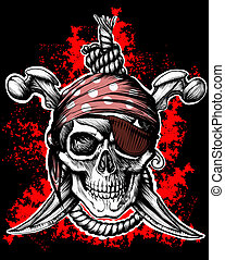 uppfattat, symbol, sjörövare, glad