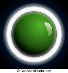 upplyst, abstrakt, skum grönt, glatt, bakgrund, ringa, ball.