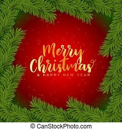 uppsluppen jul, dekoration, bakgrund, julgran, bladen