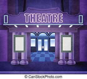 utanför, teater