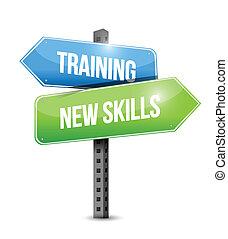 utbildning, expertis, illustration, underteckna, design, färsk, väg