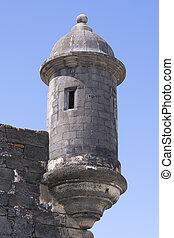 utkikare, turret, fästning