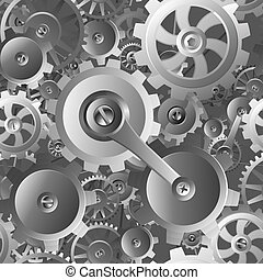 utrustar, kuggar, seamless, maskin, mönster