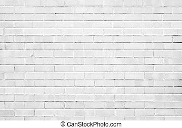 utrymme, vägg, struktur, bakgrund, vit, avskrift, tegelsten