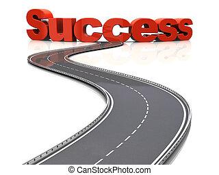 väg, framgång