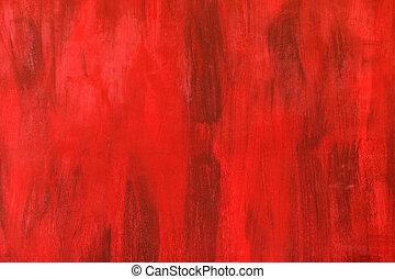 vägg, abstrakt, bakgrund, struktur, röd