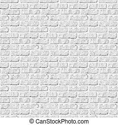 vägg, bakgrund., vita tegelsten, seamless