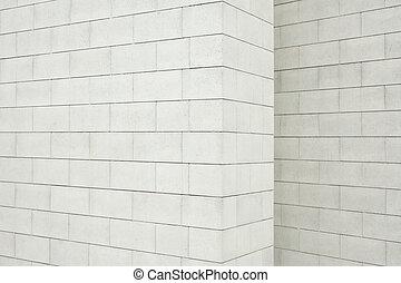 vägg, betong spärra