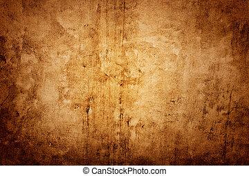 vägg, brun, struktur