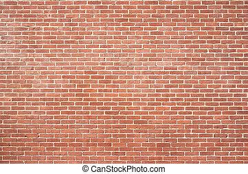 vägg, färsk, tegelsten, struktur