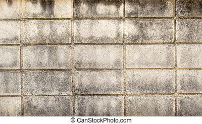 vägg, gammal, tegelsten, grunge, bakgrund