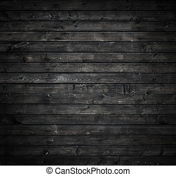 vägg, grå, ved