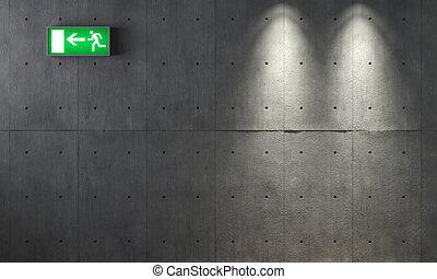 vägg, konkret, grunge, struktur