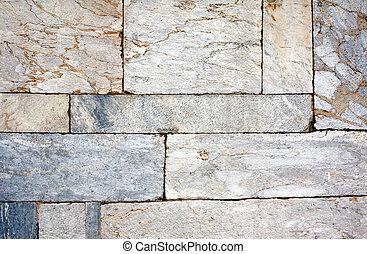 vägg, kvarter, marmor