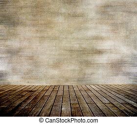 vägg, paneled, ved, grunge, golv
