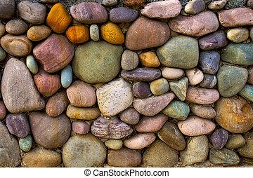 vägg, sten, bakgrund, multi-colored