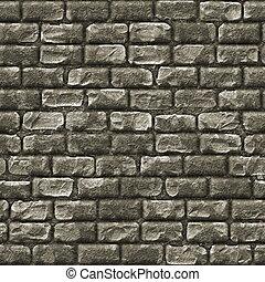 vägg, sten, tegelsten, seamless