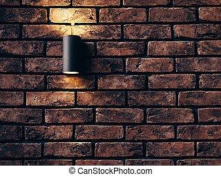 vägg, stenarbete, hårdna tegelsten, rum, bakgrund, design