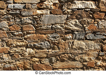 vägg, stenskärv, vagga