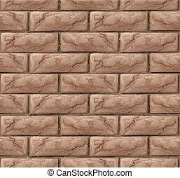 vägg, tegelsten, bakgrund, seamless, struktur