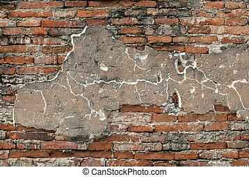 vägg, tegelsten, gammal, texture.