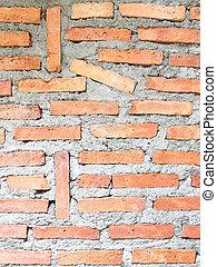 vägg, tegelsten, struktur