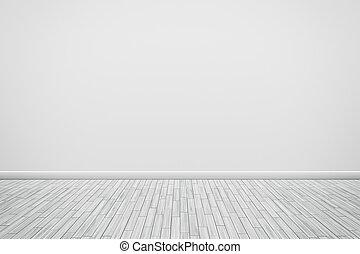 vägg, vit