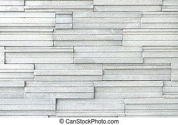vägg, vit, nymodig