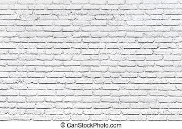 vägg, vita tegelsten, bakgrund