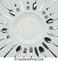 väntan, middag