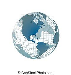 värld glob, karta, 3