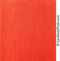 vävnad, röd fond