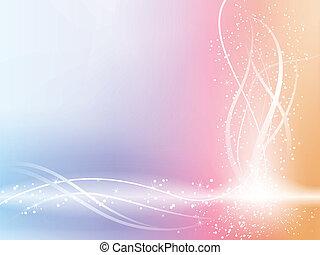 vacker, pastell, stjärnor, bakgrund, swirls.