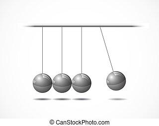 vagga, balansering, newtons kulor